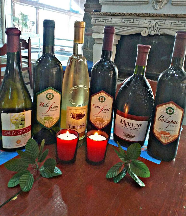 vina iz podruma porodice Milojević.